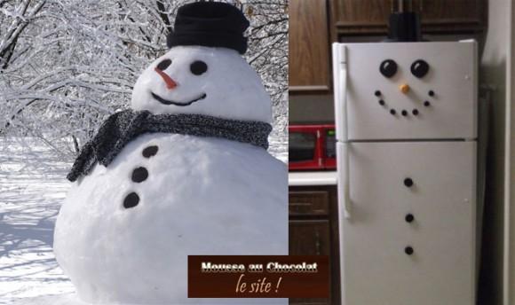 snowman et mousse au chocolat