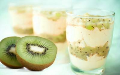 Mousse au chocolat blanc au Kiwi