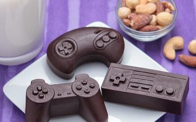 Joystick en chocolat